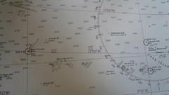 Chart from Rarotonga, Cook Island to American ...