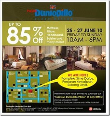 Dunlopillo Warehouse Sale