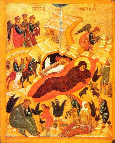 Nativity (Novgorod late 15c Pavel Korin Museum)