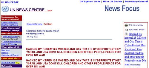 ONU hackeada
