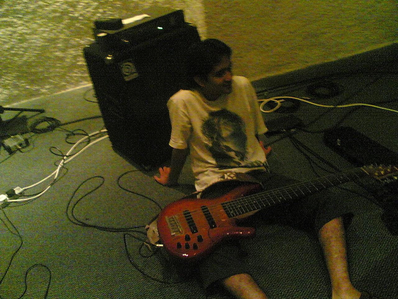 Reymond, superb bassist
