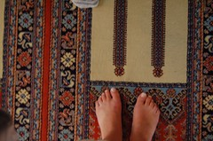 Prayer rug in the Blue Mosque