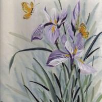 國畫_鳶尾花(Iris versicolor)