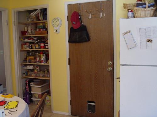 Pantry and garage door
