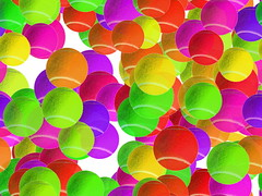 neon tennis balls