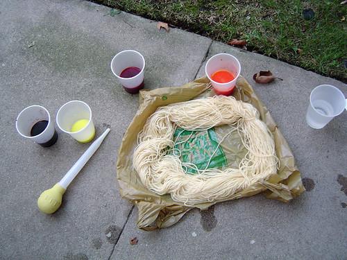 All prepared to dye