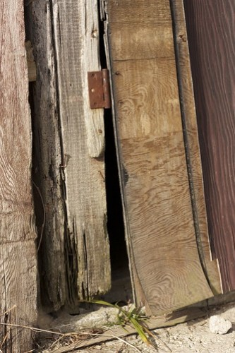 splintered barn door