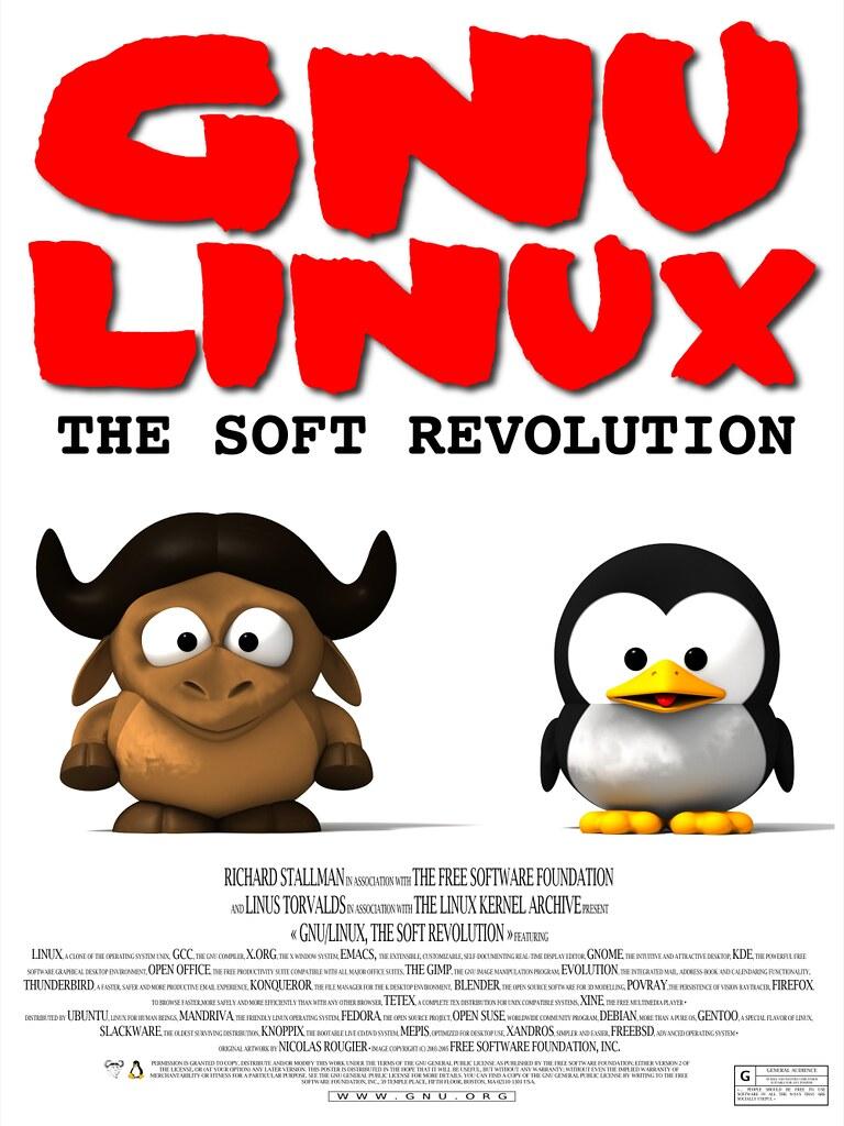 Gnu/Tux SoftRevolutio