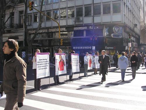 Avenida de Mayo, Buenos Aires, julio 2007