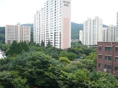 Ubiquitous apartment blocks in Seoul