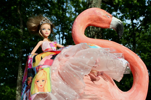 Queen Alice Atop A Pink Flamingo
