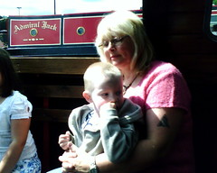 Nanny Cuckoo & Harrison boating on the canal