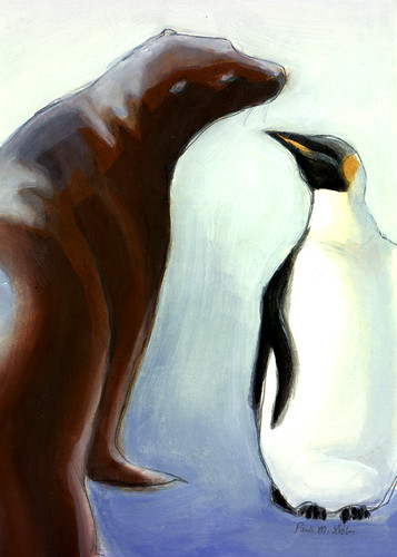 Sealion and Penguin.