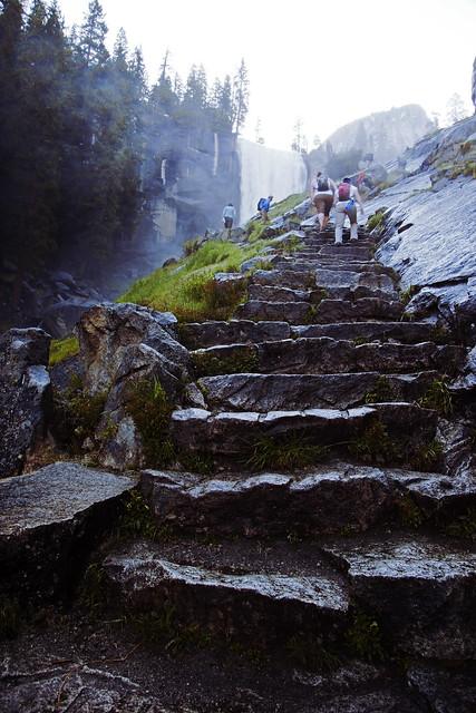 Mist Trail Stairs