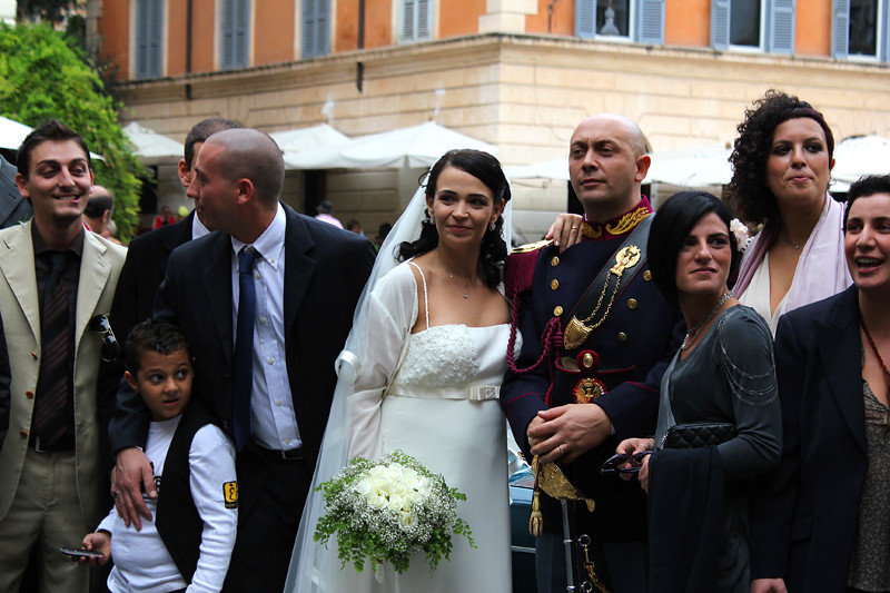 A wedding in Piazza S. Maria in Trastevere
