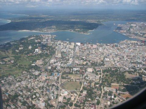 dar es salaam from the air