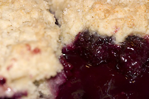 Blackberry/Cherry Cobbler