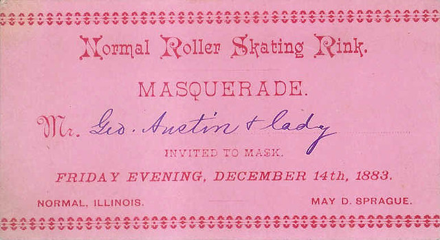 1883 Roller Skating invitation