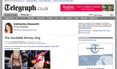 Not a Britney Blog - a Britney Post!