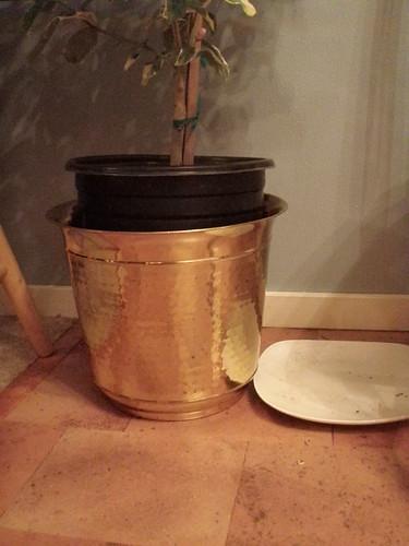 Antiqueing Find: Brass Planter