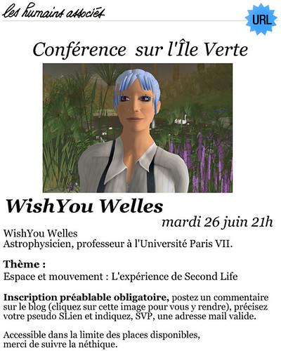 Second Life : Conférence de WishYou Welles (26 juin) - La physique dans Second Life II