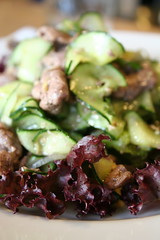 Vietnames beef and cucumber salad