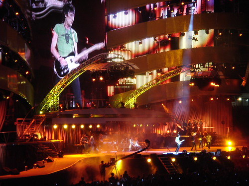 Ron Wood on stage with the Rolling Stones