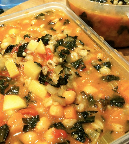 Ribollita ready for freezing