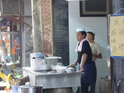 Food stall in Muslim Quarter-Xian