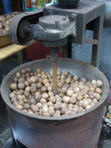 Nut warming machine