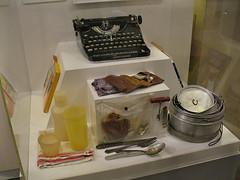 Jack Kerouac's typewriter & camping gear