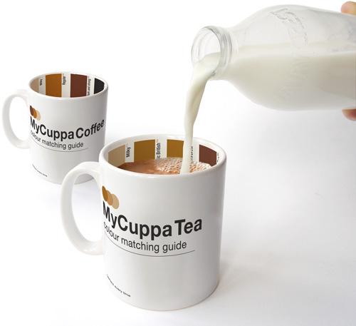 hoeveel melk moet er in koffie of thee?