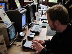 Pixelh8 playing 3D Monster Maze on the ZX81