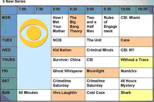 CBS, Fall, Shows, Schedule, TV