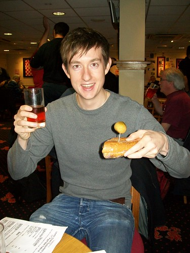 Jon with sandwich