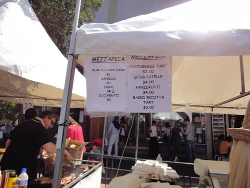 Norton Street Italian Festa: Mezzapica sweets menu