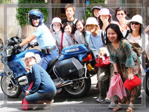 French police Japanese tourists