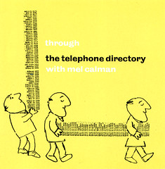 through the telephone directory