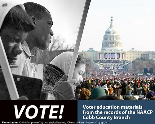 VOTE! exhibit poster, 2/2009