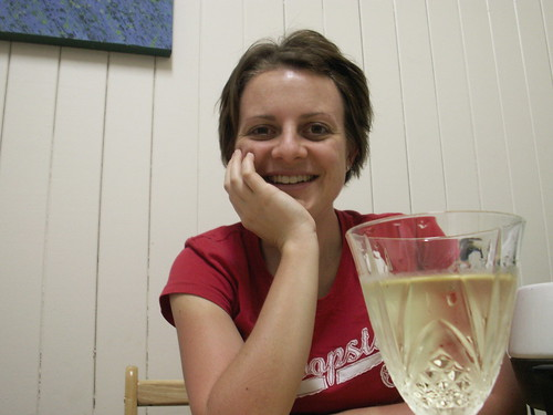 Narelle and wine