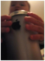 Jayden Loving the Apple Mug