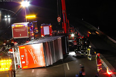 LKW auf A3 umgestürzt 15.08.07