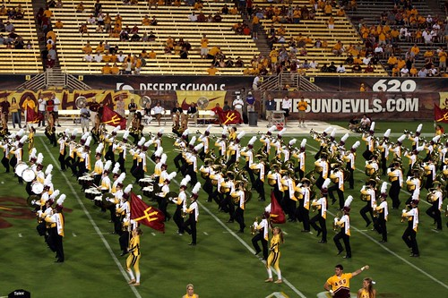 the marching band