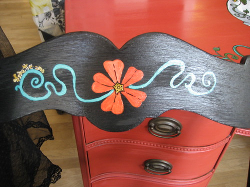 Red Flower Chair (detail)