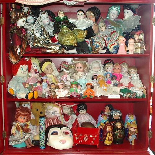 inside doll cupboard