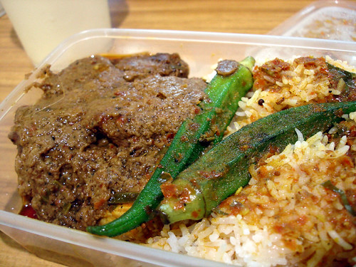 Beef Rendang and Fish Curry with Rice