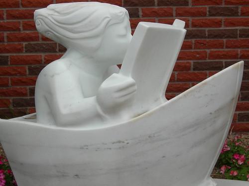 Statue Outside Library, Nebraska City, NE