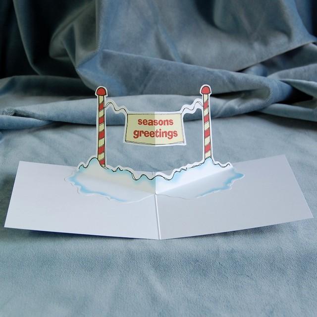 seasons greetings - pop up christmas card
