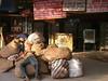 Sleeping on mail bags, New Delhi railway station