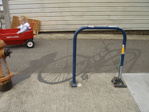 Bemont Bike Shadow and Fizzy K in Radio Flyer